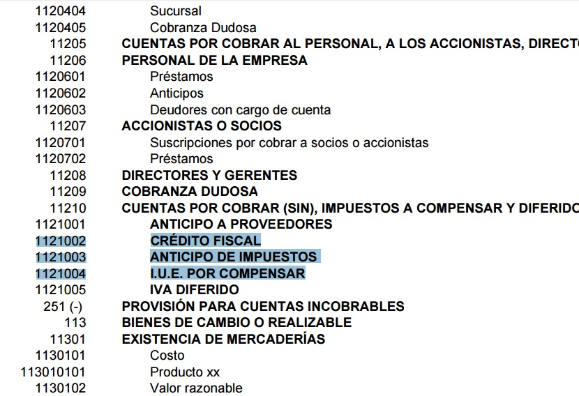 Manual de cuentas contables pdf