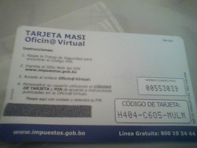 tarjeta masi impuestos 2