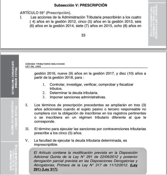 codigo tributario boliviano actualizado 2015