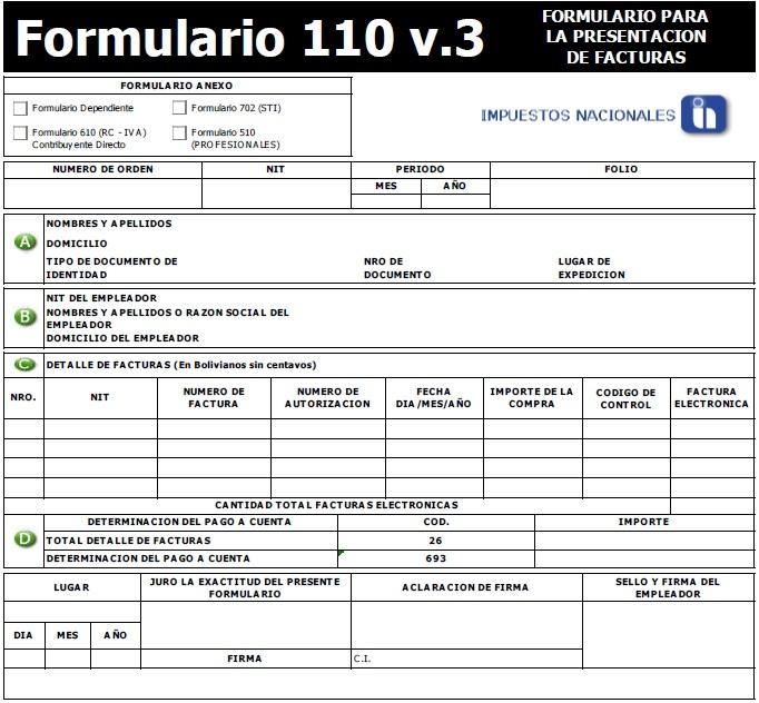 formulario 110 versión 3