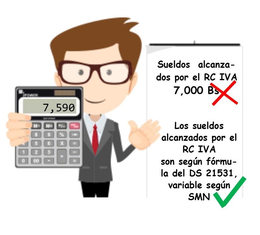 calculo rc-iva para dependientes