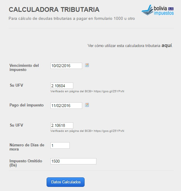 calculadora tributaria online
