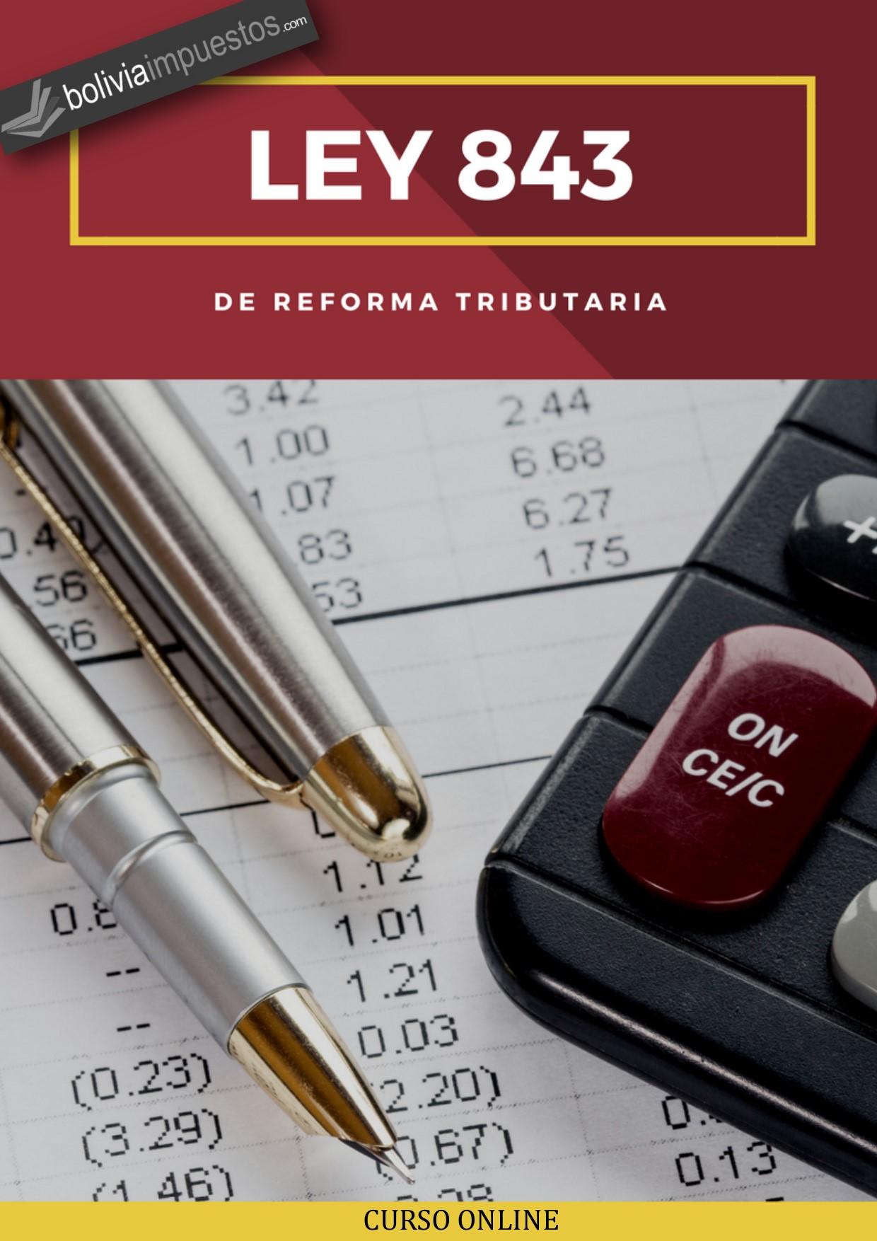 ley 843 bolivia curso