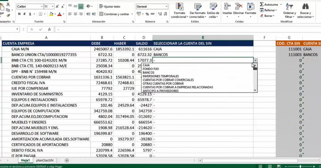 Plan de Cuentas del SIAT