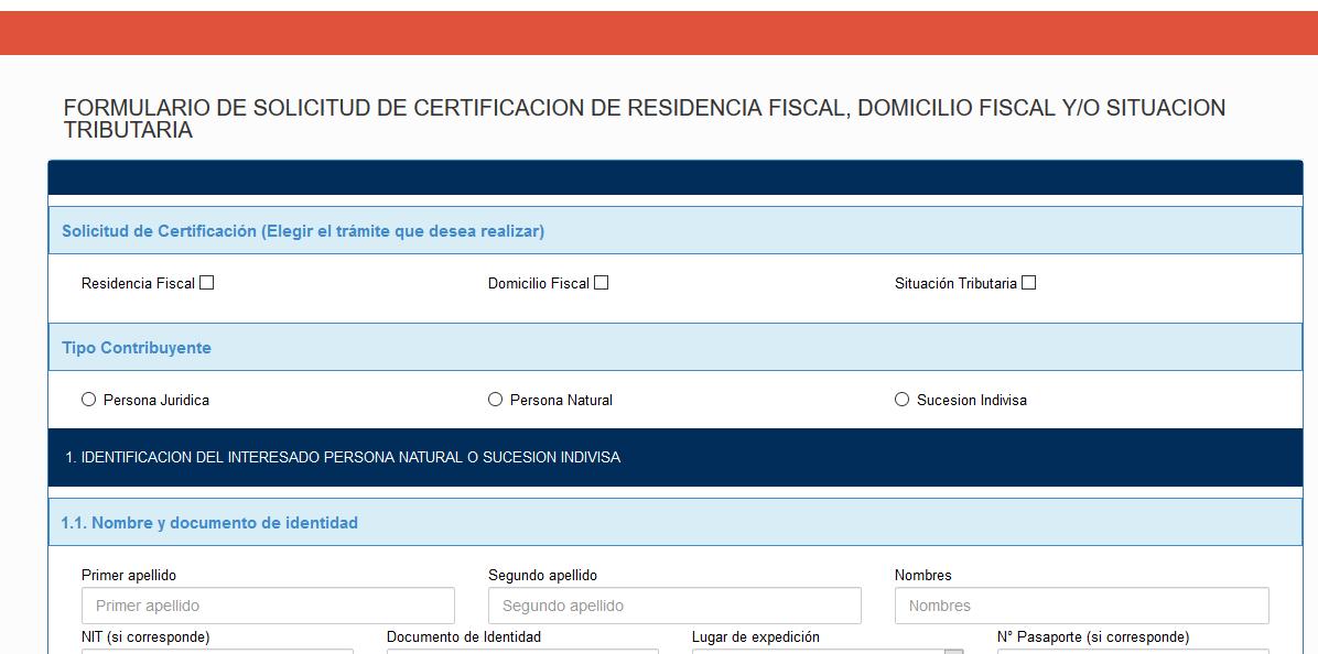 formulario obtener certificado de residencia fiscal